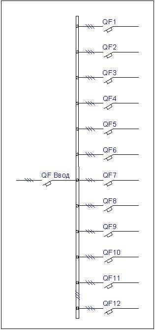 Элементы схемы.  Принцинпиальная электрическая схема главных цепей.