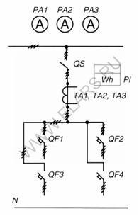 Схема первичных соединений.